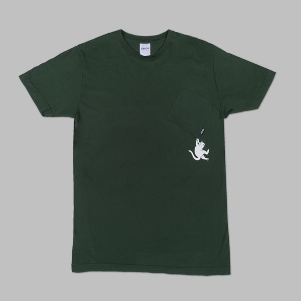 RIP N DIP HANG IN THERE SS T-SHIRT HUNTER GREEN