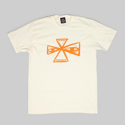 INDY X RAY BARBEE CROSS T-SHIRT CREAM