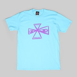 INDY X RAY BARBEE CROSS T-SHIRT PACIFIC BLUE