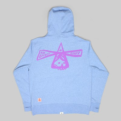 INDY X RAY BARBEE CROSS ZIP HOOD SKY HEATHER