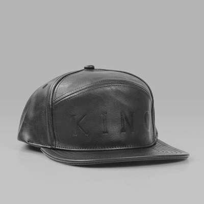 King Apparel 6 Panel Hybrid Executive Snapback Cap Black