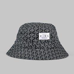 King Apparel Botanic Bucket Hat Black
