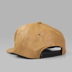 King Apparel Executive 6 Panel Hybrid Snapback Cap Camel