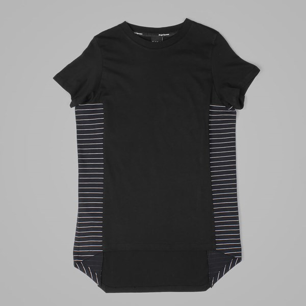 King Apparel Hardgraft Panel T Shirt Longline Black
