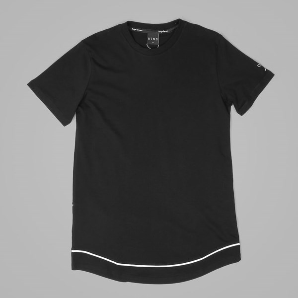 King Apparel Longline Staple Layered T Shirt Black