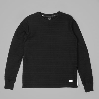 King Apparel Luxe Ribbed Sweatshirt Black