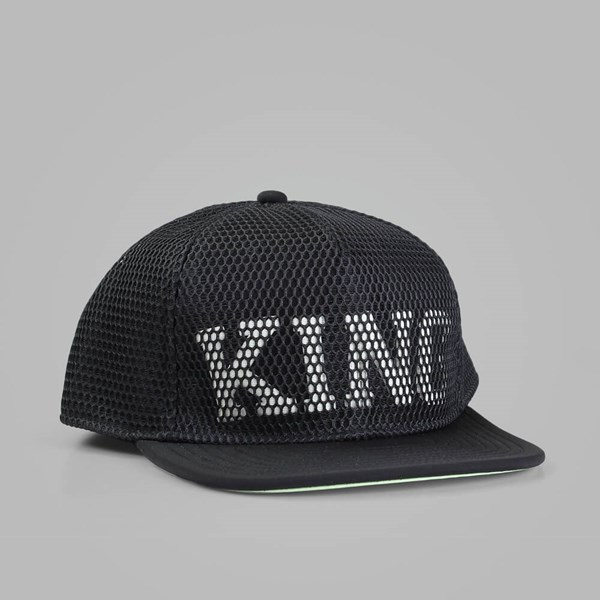 King Apparel Stealth Pinch Panel Snapback Cap Black
