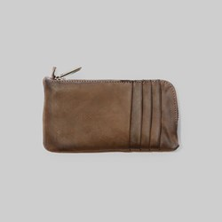 Kjore Project Buffalo Leather Clutch Wallet Brown