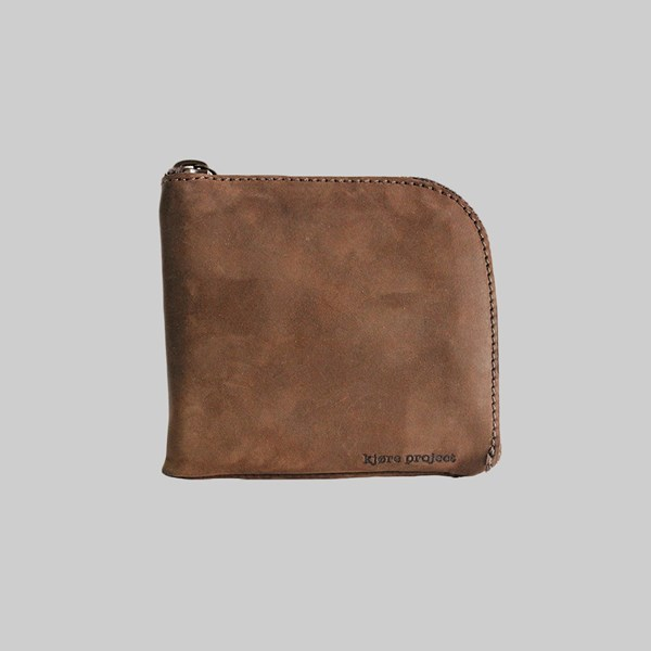 Kjore Project Leather Clutch Coin Wallet Brown