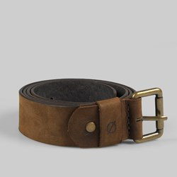 Kjore Project Round Leather Belt 110cm Brown