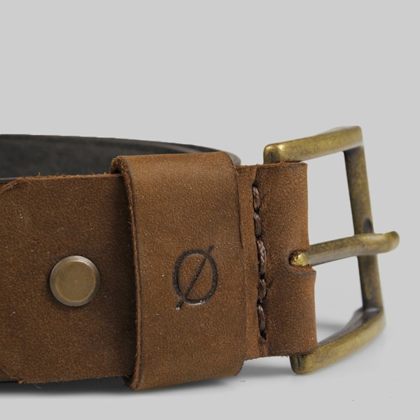 Kjore Project Square Leather Belt 110cm Brown