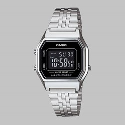 CASIO WATCH LA680WEA-1BEF SILVER BLACK