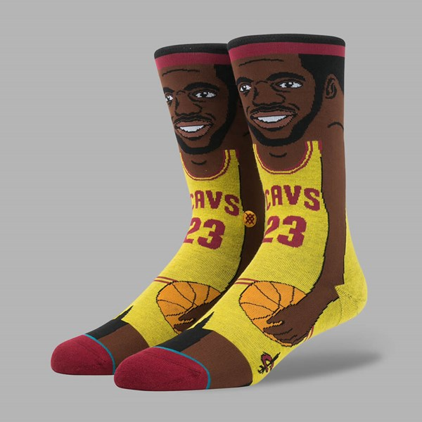 STANCE NBA LEGENDS L. JAMES SOCKS YELLOW