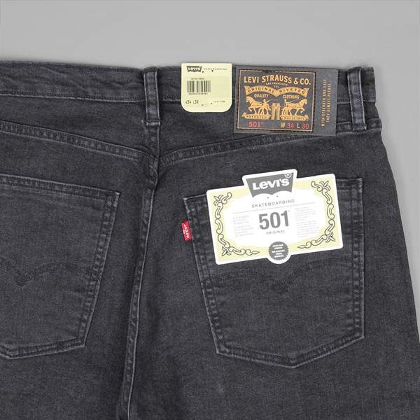 LEVI'S 501 ORIGINAL FIT BLACK RINSE