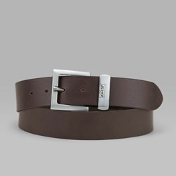 LEVI'S ALBERT LEATHER BELT DARK BROWN