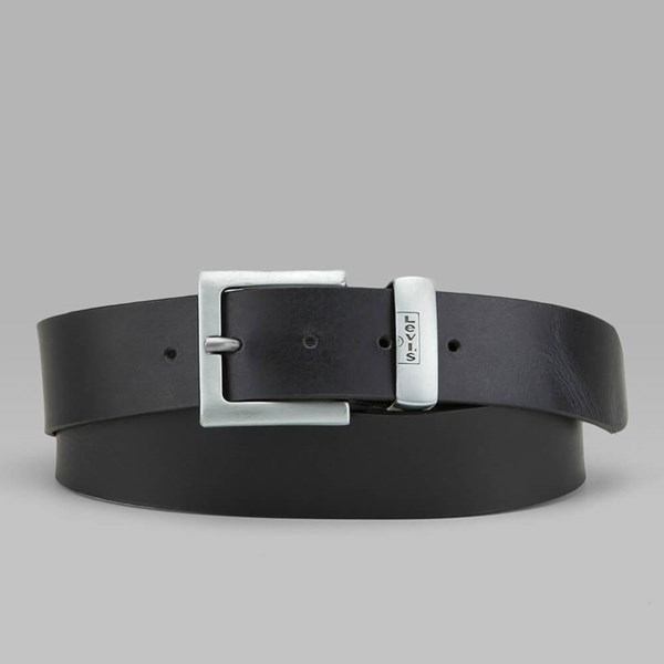 LEVI'S ALBERT LEATHER BELT BLACK