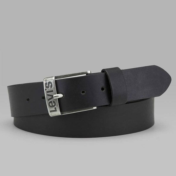 LEVI'S DUNCAN LEATHER BELT BLACK