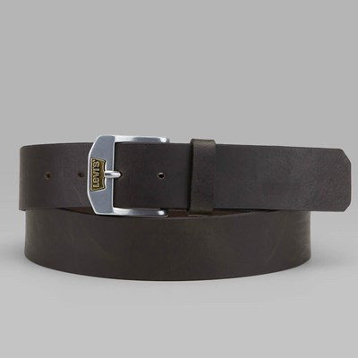 LEVI'S NEW LEGEND LEATHER BELT DARK BROWN