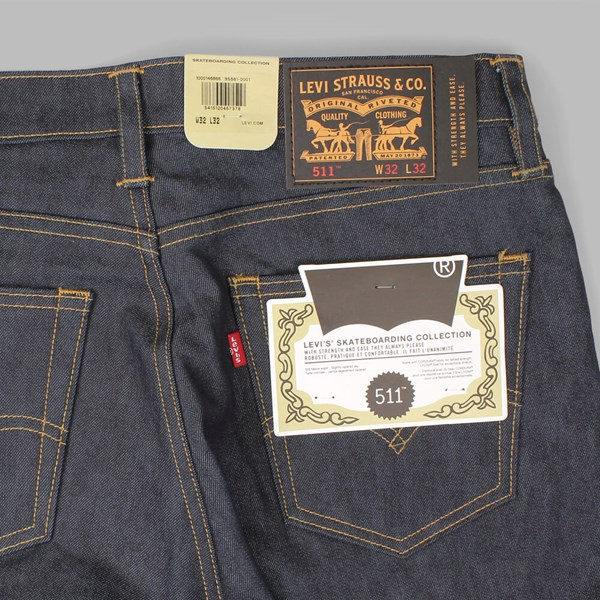 LEVI'S SKATE 511 SLIM FIT JEANS RIGID INDIGO