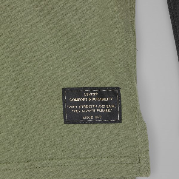 LEVI'S SKATE LS FOOTBALL SHIRT IVY GREEN