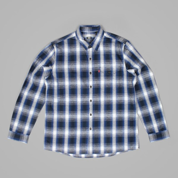 LEVI'S SKATE REFORM SHIRT BLUE PLAID