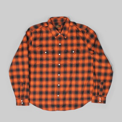 LEVI'S SKATE WESTERN LS SHIRT BOMBAY BROWN