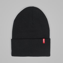 LEVI'S SLOUCHY RED TAB BEANIE REGULAR BLACK