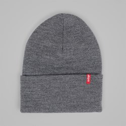 LEVI'S SLOUCHY RED TAB BEANIE REGULAR GREY
