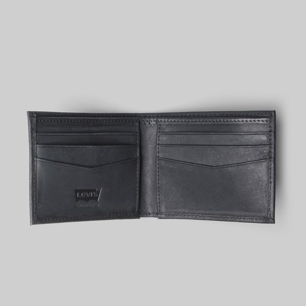 LEVI'S SUEDED BATWING BIFOLD WALLET BLACK