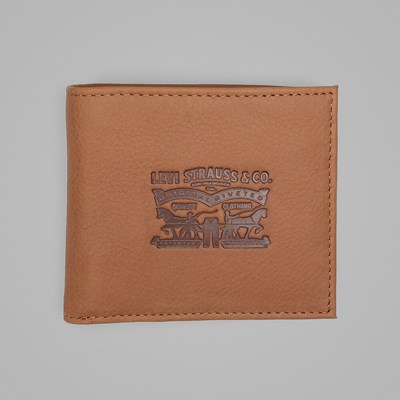 LEVI'S VINTAGE TWO HORSE BIFOLD COIN WALLET BROWN