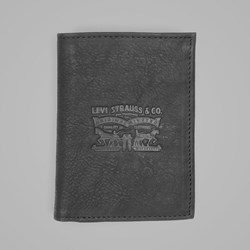 LEVI'S VINTAGE TWO HORSE VERTICAL COIN WALLET BLACK