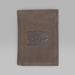 LEVI'S VINTAGE TWO HORSE VERTICAL COIN WALLET DARK BROWN