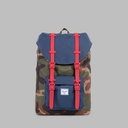 HERSCHEL LITTLE AMERICA MID VOLUME BACKPACK WOODLAND CAMO-NAVY