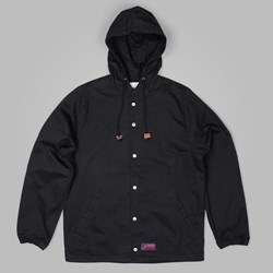 Lafayette Twill Hooded Coach Jacket Black