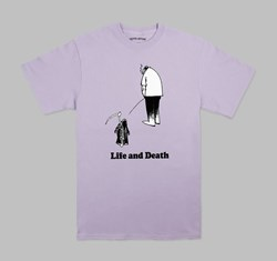 FUCKING AWESOME LIFE & DEATH TEE LAVENDER