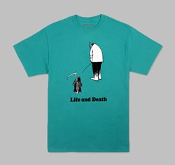 FUCKING AWESOME LIFE & DEATH TEE JADE GREEN