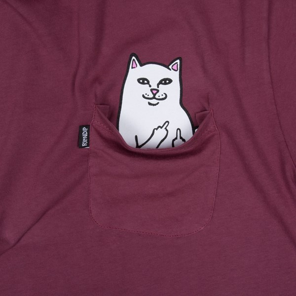 RIP N DIP LORD NERMAL SS T-SHIRT BURGUNDY