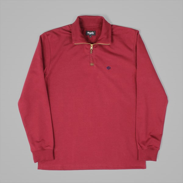 MAGENTA BORDEAUX SWEATER ZIP UP BURGUNDY