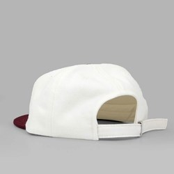 MAGENTA BRODE 6 PANEL CAP WHITE BURGUNDY