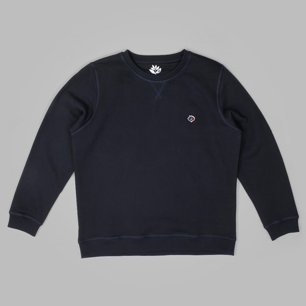 MAGENTA BRODE CREW NECK DARK NAVY
