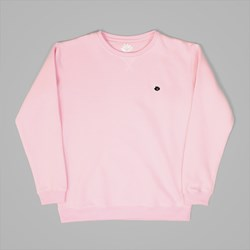 MAGENTA BRODE CREW SWEAT ROSE