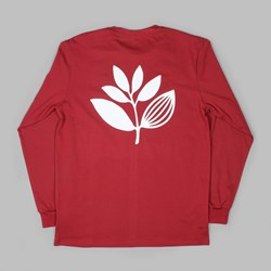 MAGENTA CLASSIC LONG SLEEVE TEE BURGUNDY