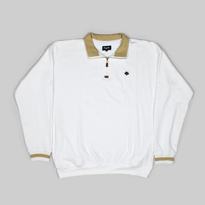 MAGENTA CLUB NECK ZIP FLEECE WHITE BEIGE