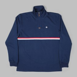 MAGENTA CLUB ZIP NECK FLEECE NAVY