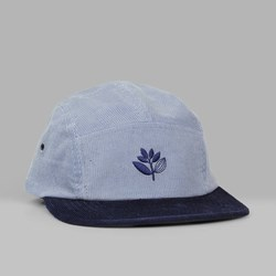 MAGENTA CORD BRODE 5 PANEL CAP BLUE NAVY