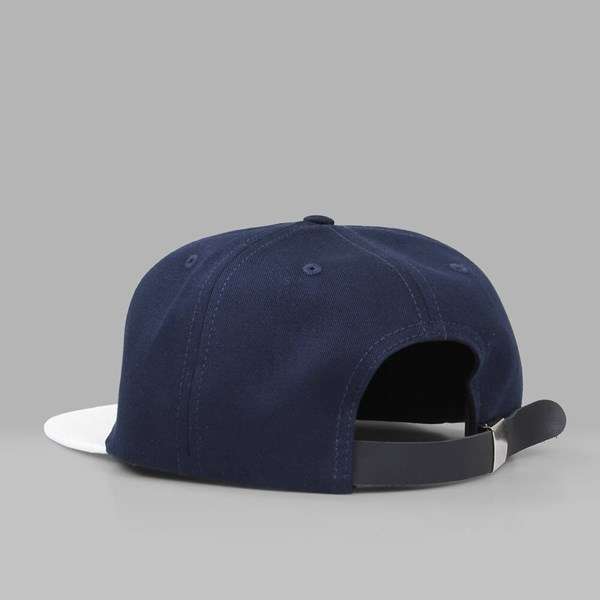 MAGENTA 'M' 6 PANEL CAP NAVY WHITE