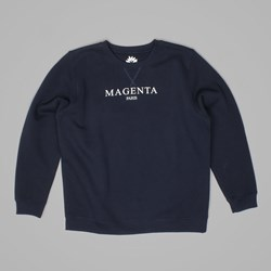 MAGENTA PARIS CREW NECK SWEAT NAVY