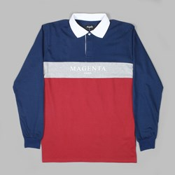 MAGENTA PARIS LS RUGBY SHIRT TRICOLOUR
