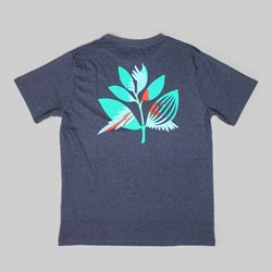 MAGENTA PARROT SS T-SHIRT NAVY HEATHER