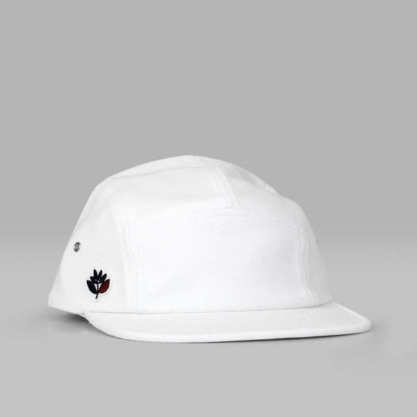 45e1bba6e15 MAGENTA PLANT 5 PANEL BRODE CAP WHITE